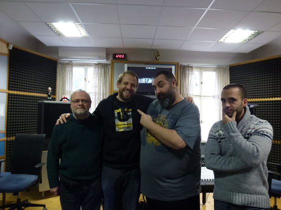 James Fitzpatrick (Tadlow Music), mixing engineer Vítek Král with composer Rahman Altin and his assistant Doruk Taraktas